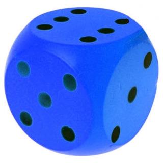 Obrázek 1 produktu Číselná soft kostka 15cm, modrá