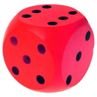 Obrázek 1 produktu Číselná soft kostka 15cm, červená