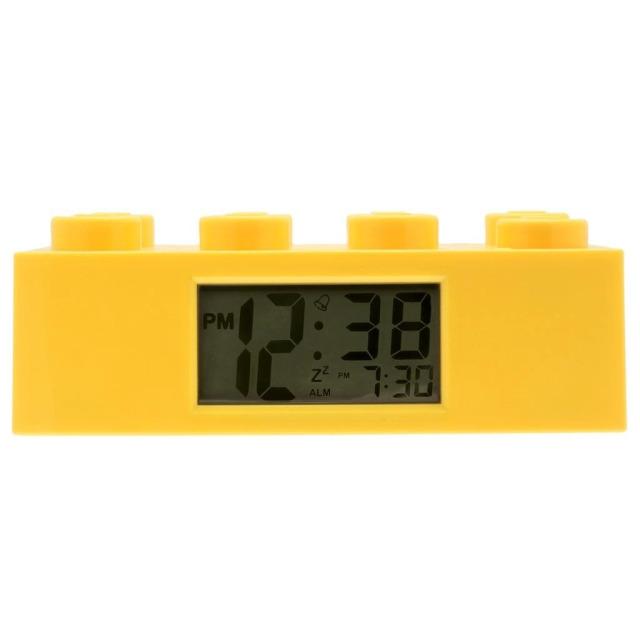 Obrázek produktu LEGO Brick - hodiny s budíkem, žluté