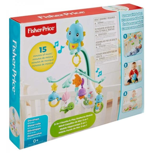 Obrázek produktu Fisher Price Hudební kolotoč 3v1, Mattel DFP12