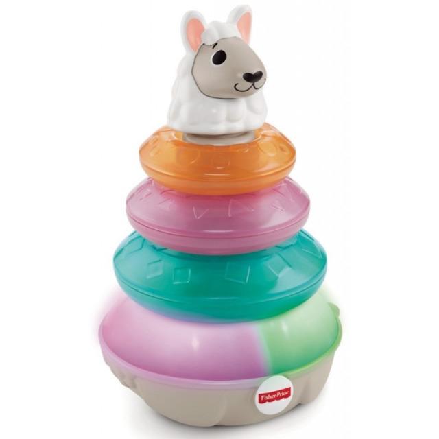 Obrázek produktu Fisher Price Linkimals Mluvící lama s kroužky CZ, Mattel GTL39