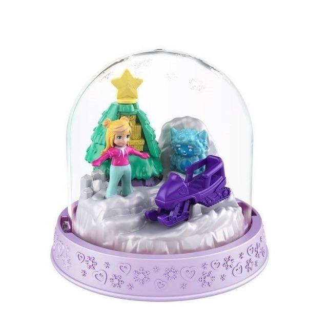 Obrázek produktu Polly Pocket Sněhová koule fialková, Mattel GNG69