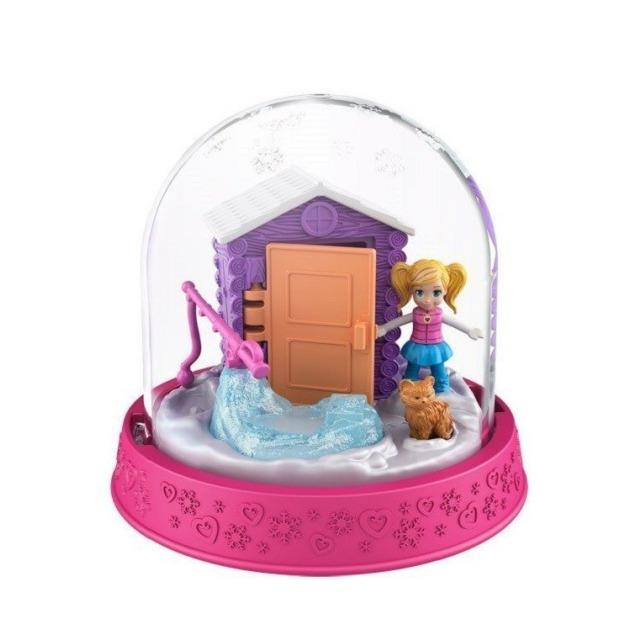 Obrázek produktu Polly Pocket Sněhová koule tmavěrůžová, Mattel GNG67