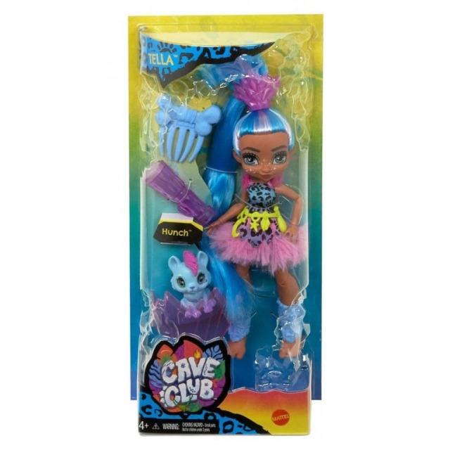 Obrázek produktu Mattel CAVE CLUB Panenka Tella s dino zvířátkem Hunch, GNL86