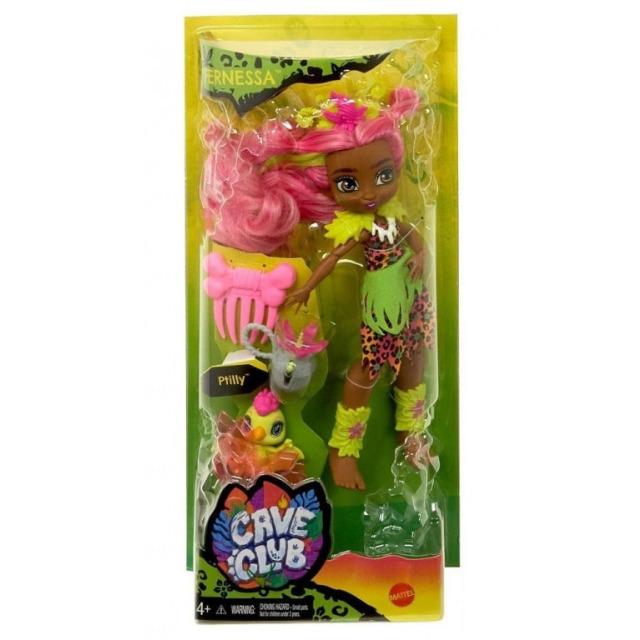 Obrázek produktu Mattel CAVE CLUB Panenka Fernessa s dino zvířátkem Ptilly, GNL85
