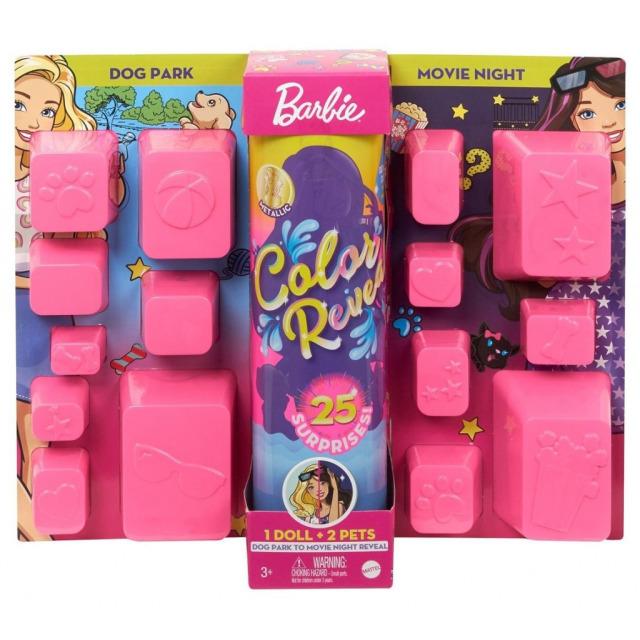 Obrázek produktu Barbie COLOR REVEAL se zvířátkem Psí park vs. kino, Mattel GPD56