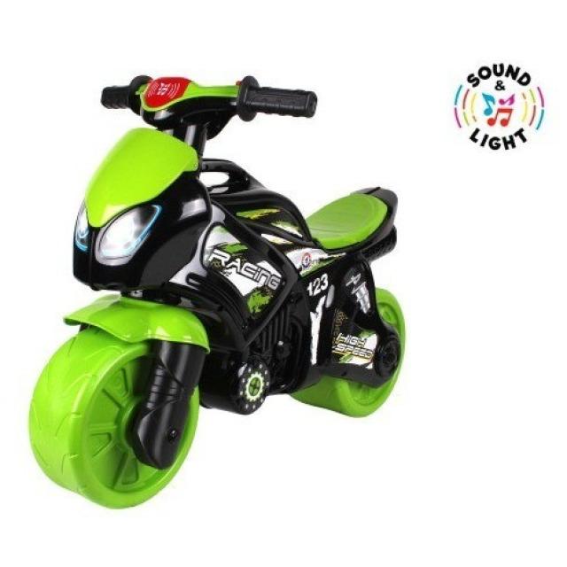Obrázek produktu Odrážedlo motorka zeleno-černá plast na baterie