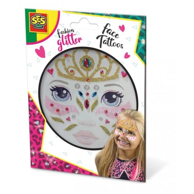 Obrázek produktu Fashion Glitter Třpytkové tetování na obličej Princezna
