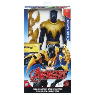 Obrázek 1 produktu Hasbro Avengers Titan Hero Black Panther s doplňky 30 cm, B6149