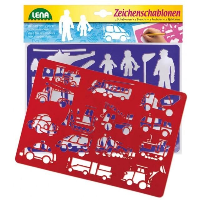Obrázek produktu Lena kreslící šablony dopravní prostředky
