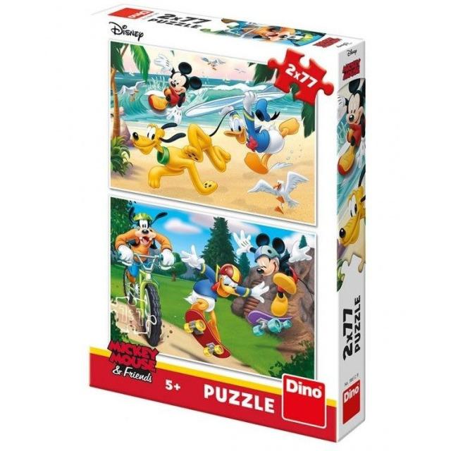 Obrázek produktu Puzzle WD Mickey sportuje 2x77d. Dino