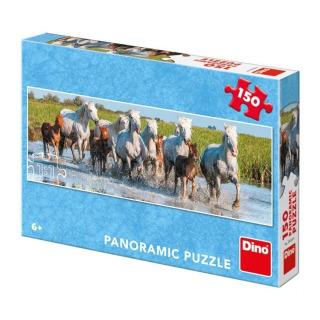 Obrázek 1 produktu Puzzle Camargští koně Panorama 150 dílků Dino