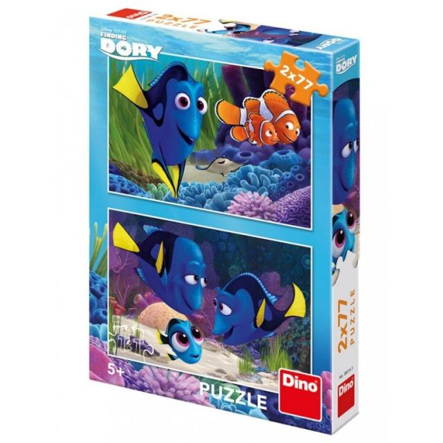 Obrázek produktu Puzzle WD Dory se našla 2x77d. Dino