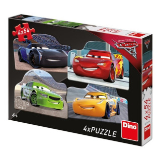 Obrázek 1 produktu Puzzle WD Cars 3 Rivalové 4x54d. Dino