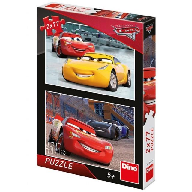 Obrázek produktu Puzzle WD Cars 3 Závodníci 2x77d. Dino
