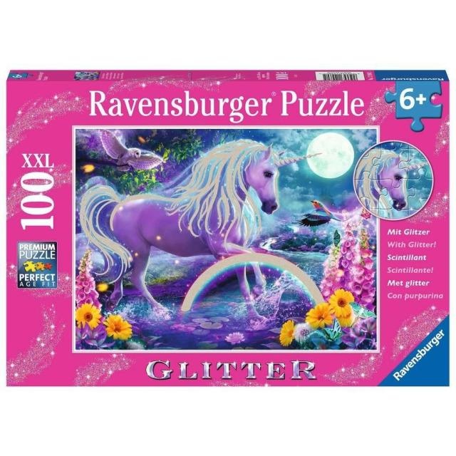 Obrázek produktu Ravensburger 12980 Puzzle Zářící jednorožec XXL 100 dílků