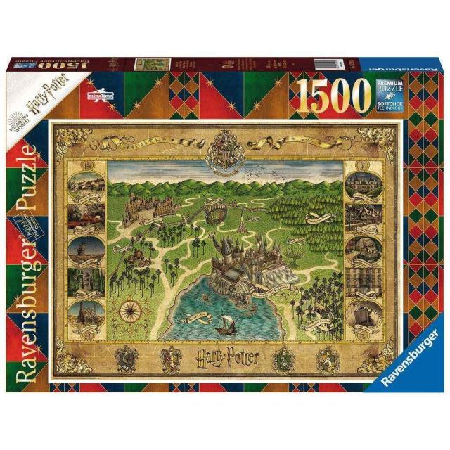 Obrázek produktu Ravensburger 16599 Puzzle Harry Potter Mapa Bradavic 1500 dílků
