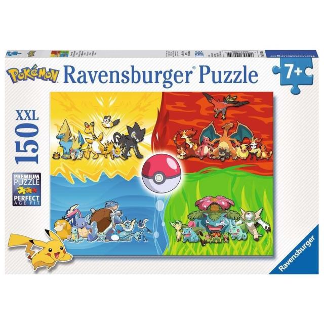 Obrázek produktu Ravensburger 10035 Puzzle Druhy Pokémonů XXL 150 dílků