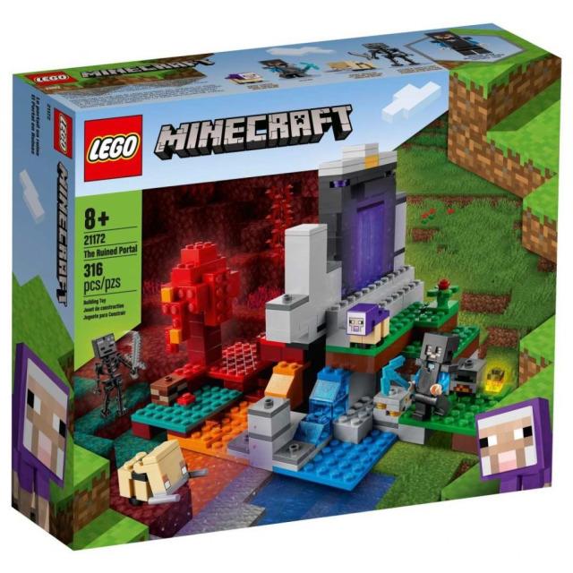 Obrázek produktu LEGO Minecraft 21172 Zničený portál
