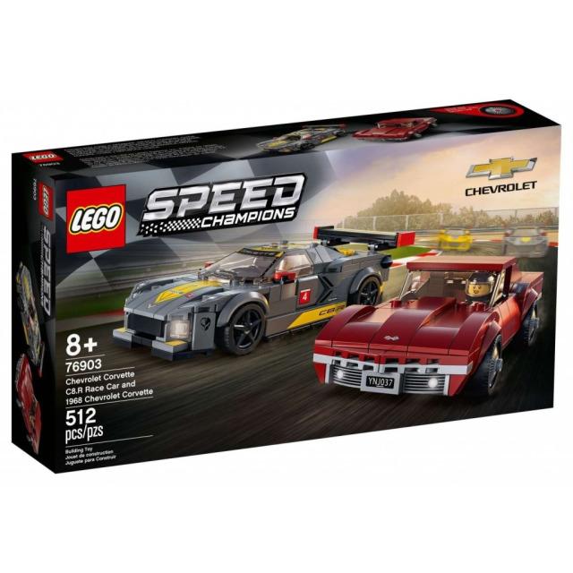 Obrázek produktu LEGO Speed Champions 76903 Chevrolet Corvette C8.R a 1968 Chevrolet Corvette