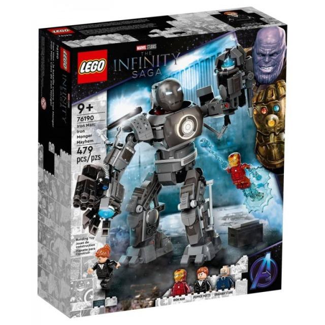 Obrázek produktu LEGO Super Heroes 76190 Iron Man: běsnění Iron Mongera
