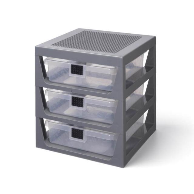 Obrázek produktu LEGO organizér se třemi zásuvkami - tmavě šedá