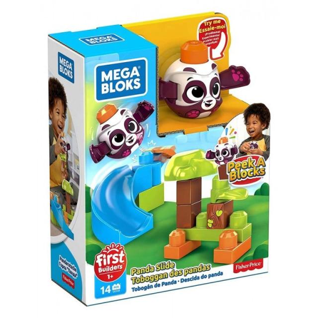 Obrázek produktu Mega Bloks Peek a Blocks Velká skluzavka Panda, Mattel GKX68