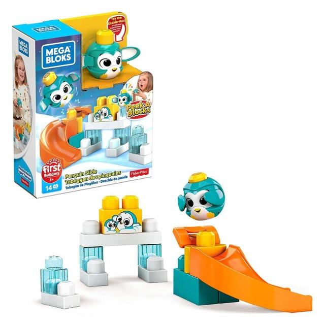 Obrázek produktu Mega Bloks Peek a Blocks Velká skluzavka Tučňák, Mattel GKX67