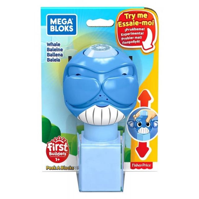 Obrázek produktu Mega Bloks Peek a Blocks Velryba, Mattel GKX46