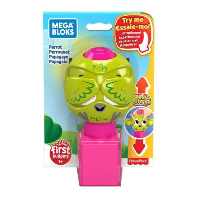 Obrázek produktu Mega Bloks Peek a Blocks Papoušek, Mattel GKX49