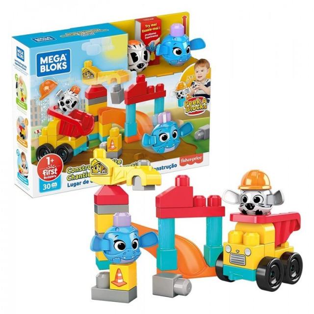 Obrázek produktu Mega Bloks Peek a Blocks Staveniště herní set