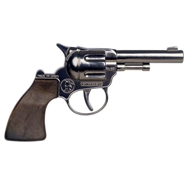 Obrázek produktu Gonher Revolver kovbojský stříbrný kovový