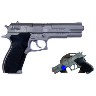 Obrázek 1 produktu Gonher Policejní pistole stříbrná matná kovová 8 ran