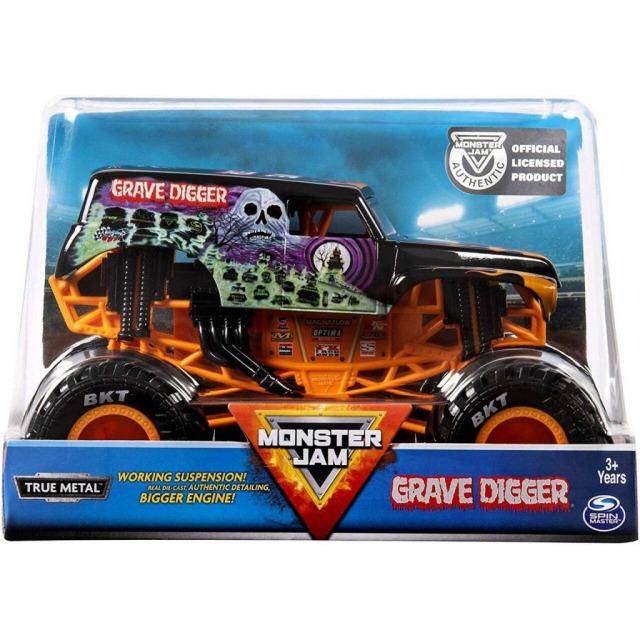 Obrázek produktu Spin Master Monster Jam Sběratelské Die-Cast Auto 1:24 Grave Digger oranžové