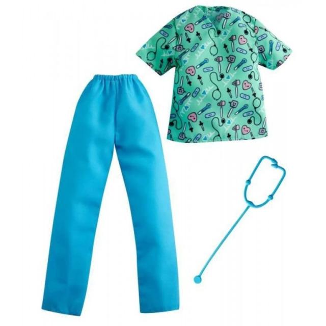 Obrázek produktu Barbie Ken prosfesní oblečení lékař, Mattel GRC68