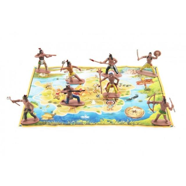 Obrázek produktu Figurky Indiáni 8 ks s mapou