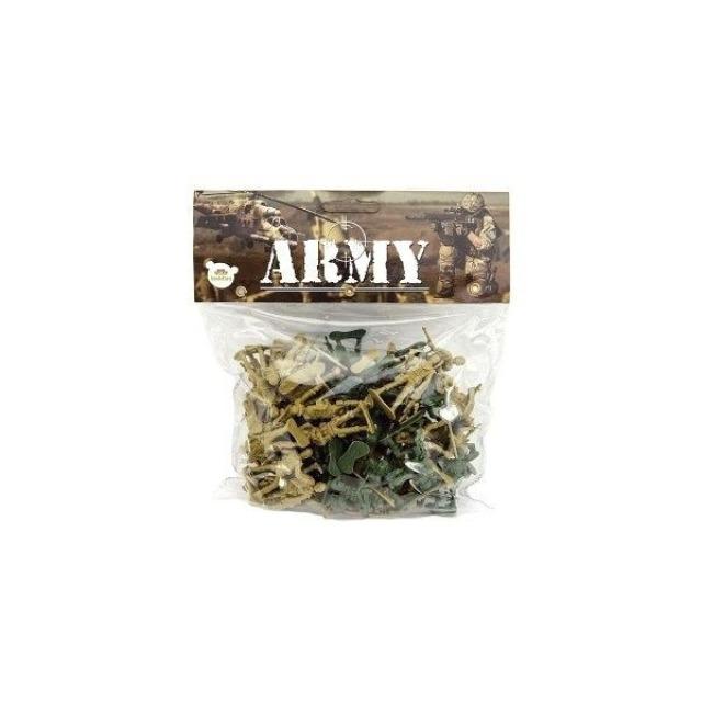 Obrázek produktu Figurky vojáci 72 ks, 4,5 cm, 2 barvy
