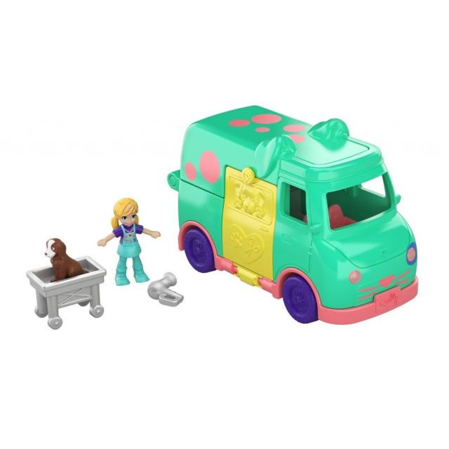 Obrázek produktu Mattel Polly Pocket Pojízdná veterinární klinika, GKL48