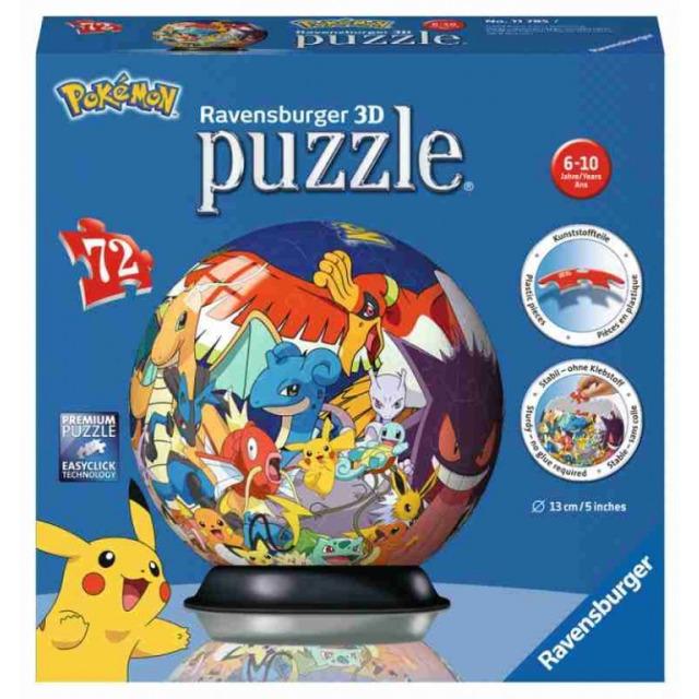 Obrázek produktu Ravensburger 11785 PuzzleBall Pokémon 72 dílků