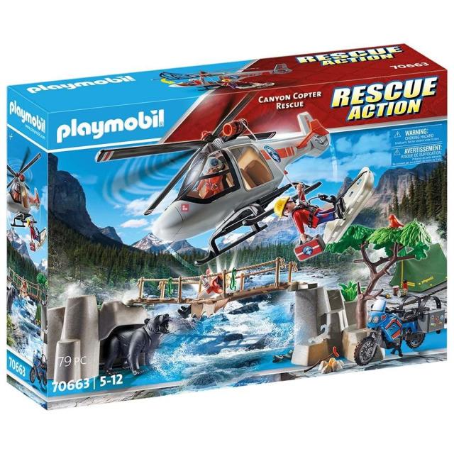 Obrázek produktu Playmobil 70663 Nasazení helikoptéry v kaňonu