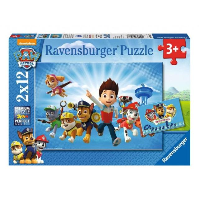 Obrázek produktu Ravensburger 07586 Puzzle Tlapková Patrola 2x12 dílků