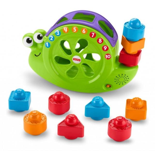 Obrázek produktu Fisher Price Vkládačka hrající šnek, Mattel FRB84
