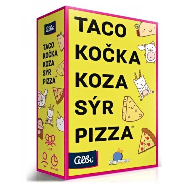 Obrázek produktu Albi Taco, kočka, koza, sýr, pizza - karetní hra