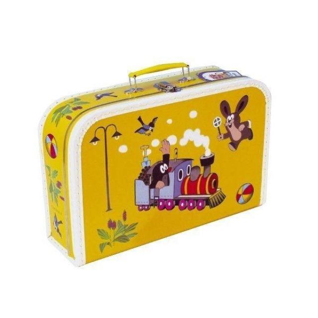 Obrázek produktu Šitý kufřík Krtek a Mašinka žlutý