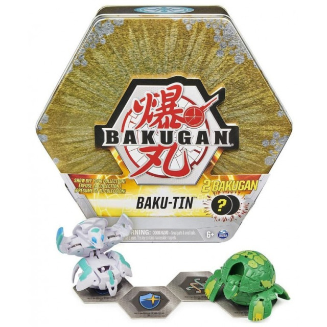 Obrázek produktu Bakugan Plechový box s exkluzivním Bakuganem S3, zlatý