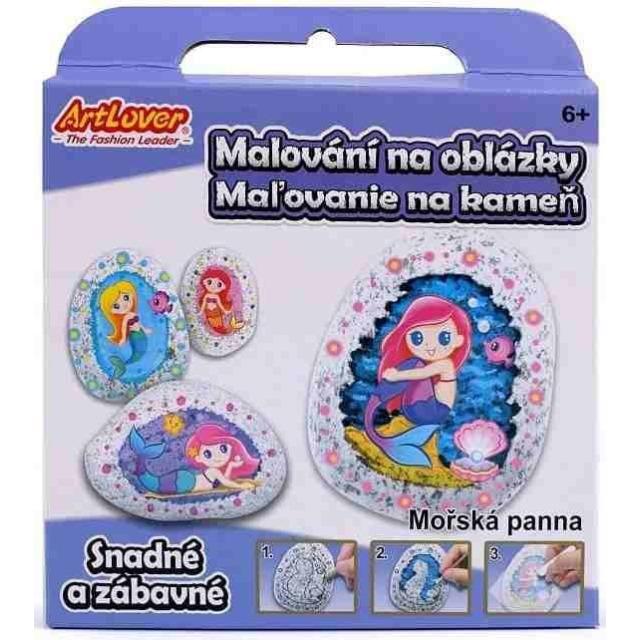 Obrázek produktu Malování na oblázky/kameny Mořská panna