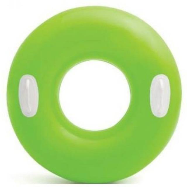 Obrázek produktu Intex 59258 Kruh plovací s úchyty 76cm zelený