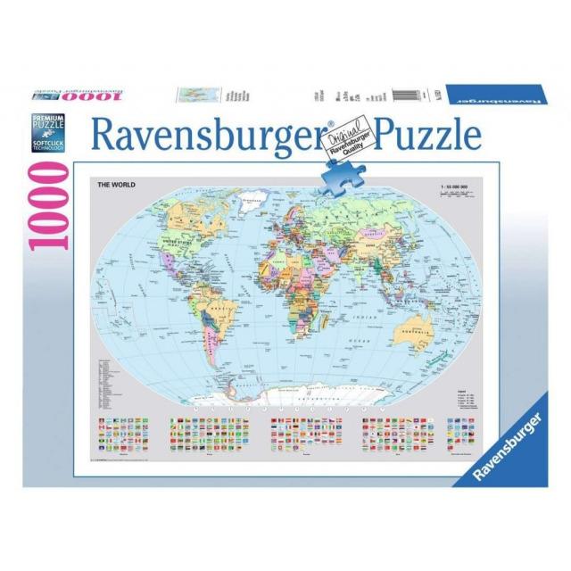 Obrázek produktu Ravensburger 15652 Puzzle Politická mapa světa 1000 dílků