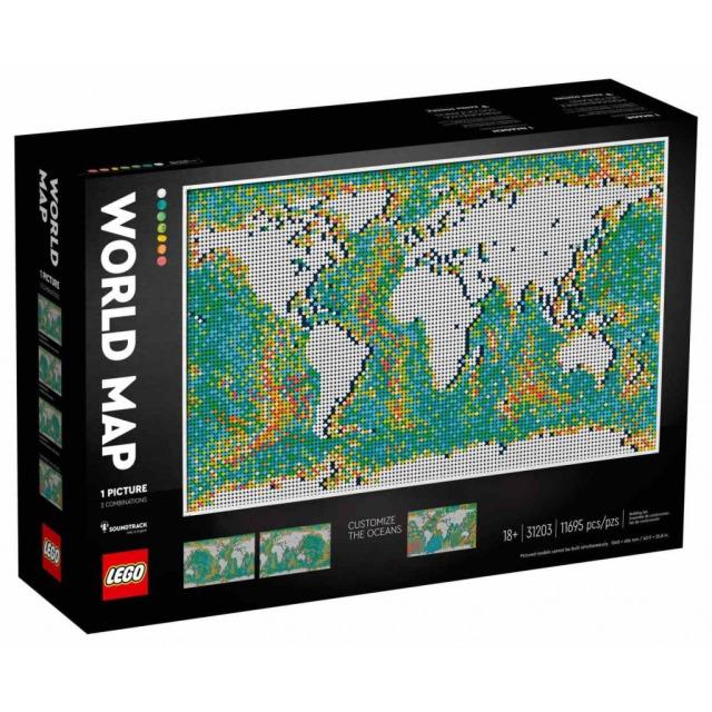 Obrázek produktu LEGO Art 31203 Mapa světa