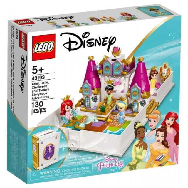 Obrázek produktu LEGO Disney 43193 Ariel, Kráska, Popelka a Tiana a jejich pohádková kniha dobrodružství